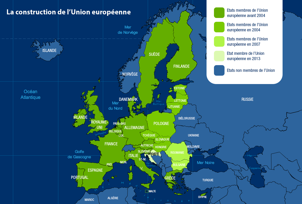 Carte De Lunion Europe.La Carte De L Union Europeenne